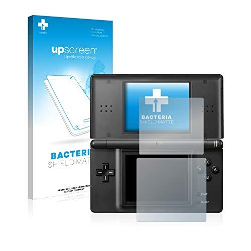 upscreen Antibakterielle Entspiegelungs-Schutzfolie kompatibel mit Nintendo DS LITE - Anti-Reflex Displayschutzfolie matt, Anti-Fingerprint