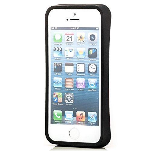 Saxonia. Saxonia Coque de protection arrière rigide Avec motif Pour Apple iPhone 5 5S Fuck off / England Kub-Rub 1