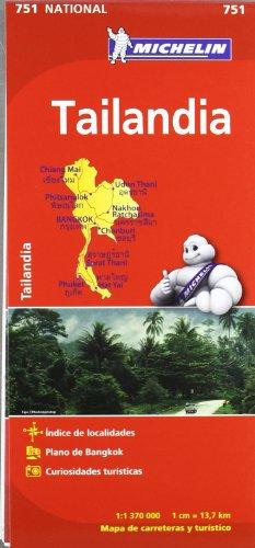 Mapa National Tailandia (Mapas National Michelin) por Vv.Aa