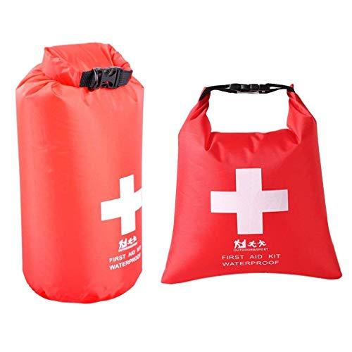 Set of 2pcs 1.2 L + 2 L Praktische Wasserdichte Tasche, Leere Erste Hilfe Pouch First Aid Stausack Notfalltasche für Outdoor Sport Camping Wandern Reisen Rafting Snowboarding Notfalltasch