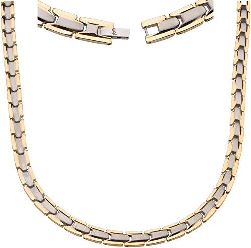 Smarter LifeStyle Elegantes Magnetisches Therapie-Halskette Aus Titan Schmerzlinderung Für Arthritis Und Karpaltunnelsyndrom Silber & Gold Für Herren Und Frauen