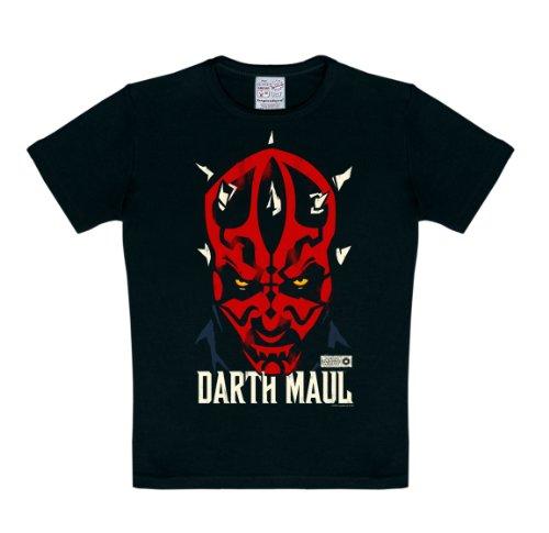 Logoshirt Star Wars - Darth Maul Camiseta para niño - Negro - Diseño original con licencia, talla 170/176