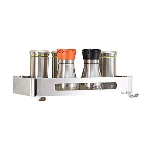Scaffale da cucina/portaspezie in acciaio inox/portaoggetti per stagionatura/portaoggetti da bagno/porta salviette a...
