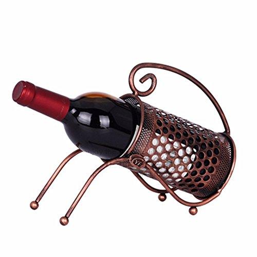 xzlxty Wine Rack Mesh eine einzelne Flasche kreative Bügeleisen Weinregal Wine Rack (Flasche Einzelne Rack)