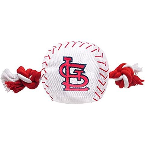 Pets First MLB St. Louis Cardinals Dog Nylon Baseball Rope Toy - Louis Cardinals Dog Baseball
