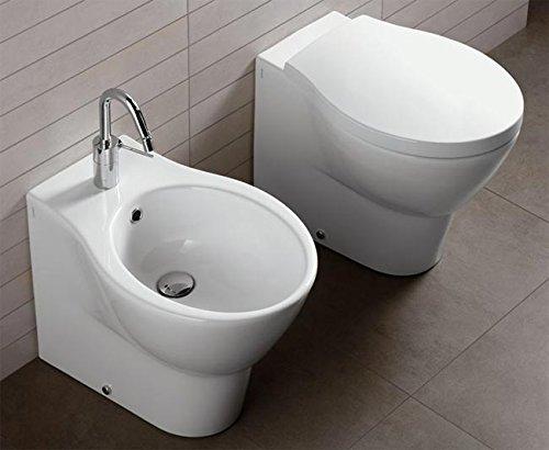Sanitari Bagno Water + Bidet + Coprivaso frenato modello Nido di Hatria