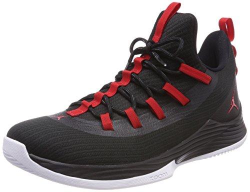 Nike Herren Jordan Ultra Fly 2 Low Basketballschuhe, Schwarz (Black/University Red/White 001), 47 EU