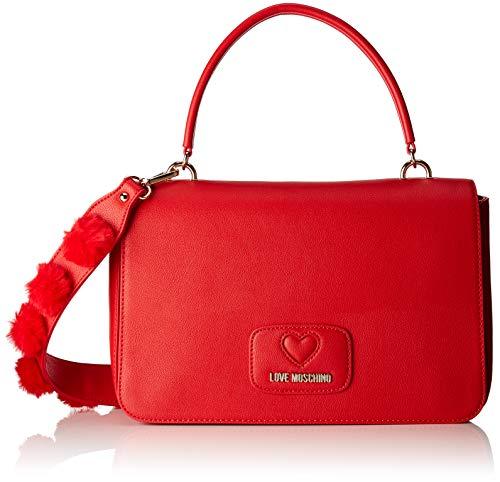 Love Moschino Borsa Pu+poliestere - Borse a spalla Donna, Rosso, 6x19x29 cm (B x H T)