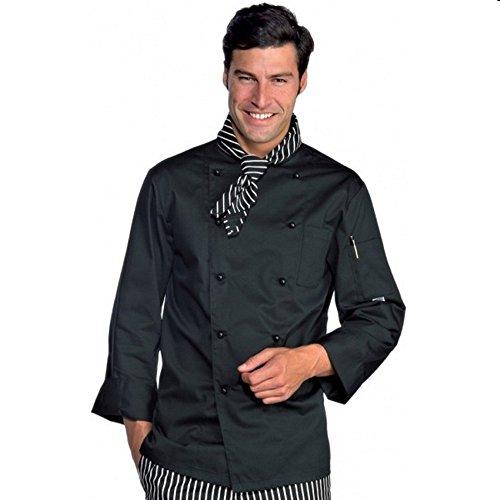 Isacco - Veste Homme Chef Cuisinier Noir Polycoton Noir