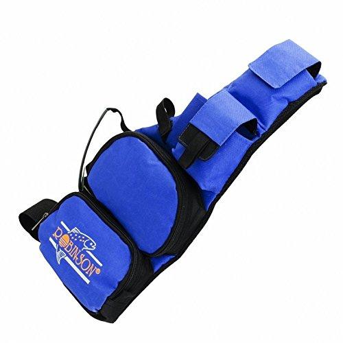 Robinson Umhängetasche, Farbe blau, neue Angeltasche zum Umhängen zum Verstauen des Angelzubehörs