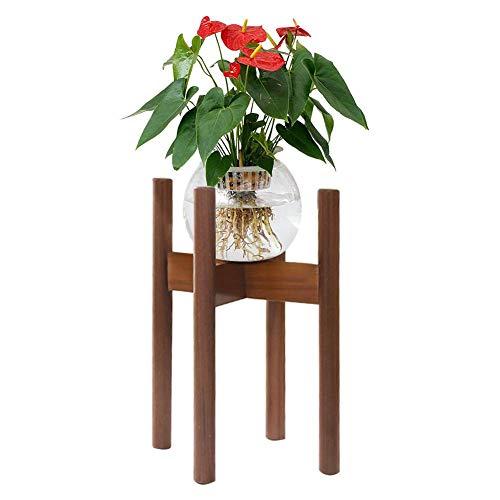 MondayUp Mini Topfpflanze Stehen, Boden Blumentopf Rack, Pflanzenhalter, Holz Regale Bonsai Display Regal für Indoor Outdoor Yard Garten Terrasse Balkon
