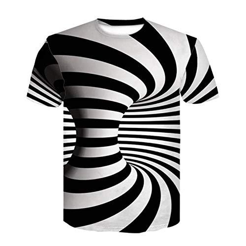 GongDi Unisex 3D Gedruckt Sommer Casual Kurzarm T-Shirts Strandurlaub Tragen Sommer Herren Hawaii Kleidung Tees S-3XL