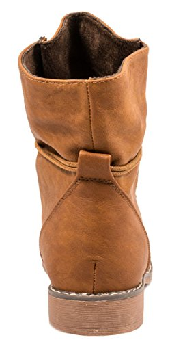 8530 femme boots cuir Camel biker chaussures bottes 36 Bottines tige a worker taille qwf0pqd