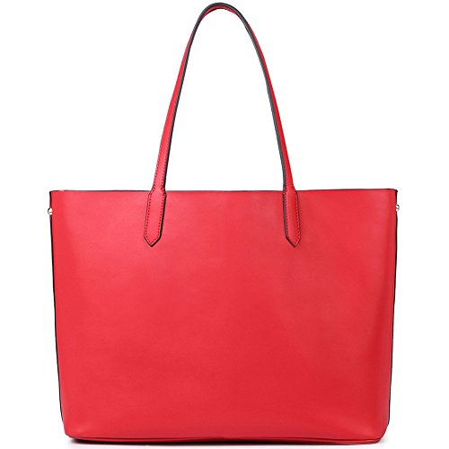 NAWO Designer Handtaschen Leder Schultertasche Shopper Umhängetasche Tote Bag Taschen für Damen Weinrot 1-Weinrot