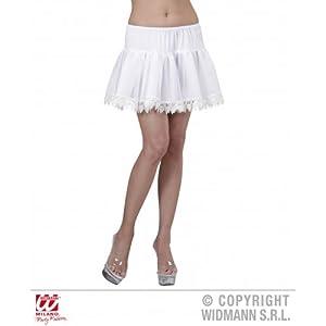 WIDMANN wdm0144l?Disfraz para adultos Enaguas con encaje a Lágrimas, color blanco, talla única