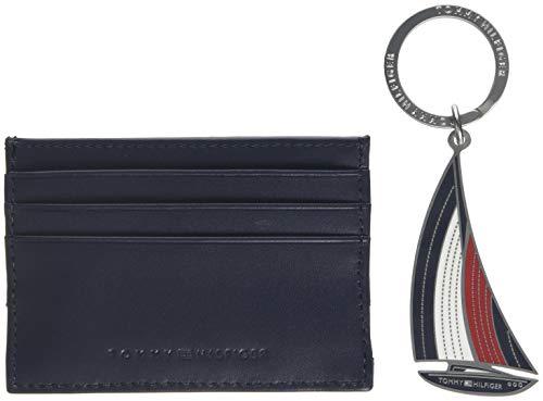 Tommy Hilfiger Herren Th Tape Cc Holder + Keyfob Box Taschenorganizer, Blau (Corporate), 2x13x12 cm -