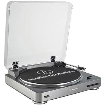 Audio-Technica AT-LP60-USB Giradischi con Trazione a Cinghia, USB e Analogico, Argento