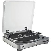 Audio-Technica AT-LP60USB - Tocadiscos de correa (220 W, 230 V, 50 dB, 60 Hz, USB), plateado