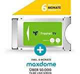 freenet TV Entertainment Paket mit CI+ TV Modul für Antenne (DVB-T2 HD) & Satellit (DVB-S), inkl. 6 Monate freenet TV und 6 Monate maxdome