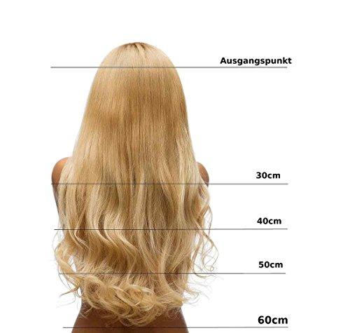 Hair2heart extension matassa tessitura capelli veri - 40cm - ondulato, colore #10 biondo miele cenere