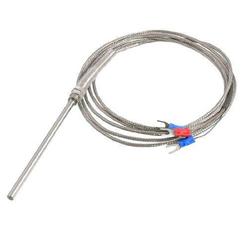 sourcingmap 2 M Länge 0-450 Celsius Temperatur Sensor Thermoelement Sonde PT100 de -