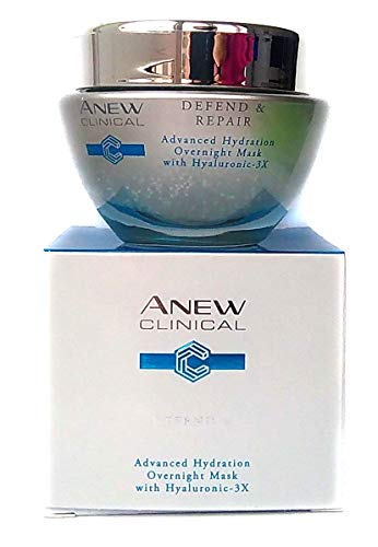 AVON Anew Clinical Defend & Repair Advanced Hydration Overnight Mask 50ml - 1.7oz - Avon Maske