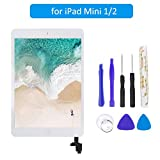 FLYLINKTECH Touchscreen für iPad Mini, voller Front-Touchscreen Digitizer Glas Montage Reparatur Ersatzteile mit Home Button flexiblem Kabel und Werkzeuge (iPad Mini Weiß)