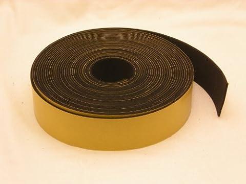 Neopren-Klebestreifen, selbstklebend, 40mm breit x 1,50mm dick x 10m lang (Geschlossenen Trailer)