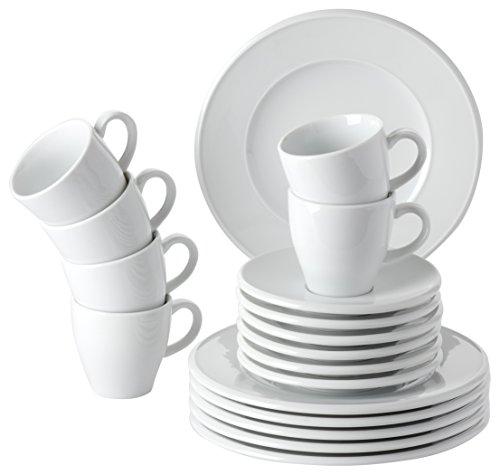 Retsch Arzberg Novo rund Kaffeeservice 18 teilig für 6 Personen / Porzellan / weiß / Made in...