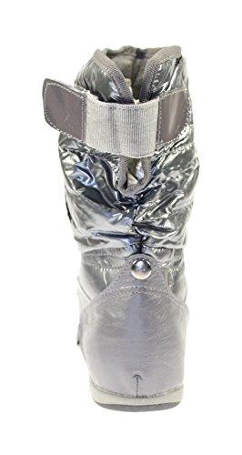 Sneaker Stiefeletten Damenschuhe Farbe Grau Grau