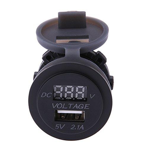 prettygood7Multimeter neoteck Pocket Digital multimetern 12V USB KFZ-Ladegerät Auto Voltmeter Two in One Multi Tester Voltmeter Amperemeter Ohmmeter Pocket-batterie-tester