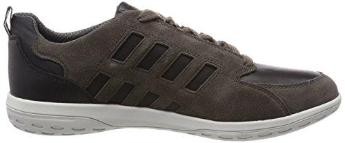 Geox Herren U Mansel A Sneaker Braun (Charcoal/Sage)