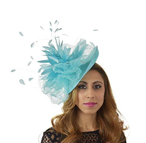 Superbe kuribi Ascot Derby Bibi Chapeau–avec bandeau–Disponible en 30couleurs Gris - Gris