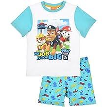 Pijama Paw Patrol-Patrulla Canina- para niños 2 piezas-camiseta manga corta pantalón corto- 100% algodón