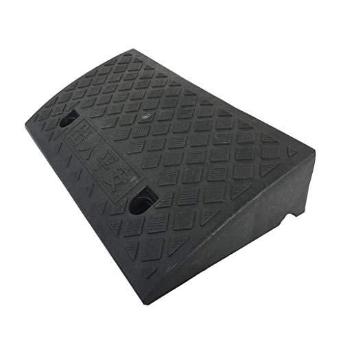 Tragbare Rampe (Xzg1-Rampe Kunststoff-Rampen, leichte, tragbare Bordsteinrampen rutschfeste Rollstuhlrampen für den Haushalt Die Multifunktionsrampen der Mall Parking Lot School (Size : Black-17cm))