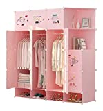 Penderie portable, Placard modulaire, peu encombrant Cabinet modulaire, Cube Idéal for Closet Casiers, livres, jouets, serviette