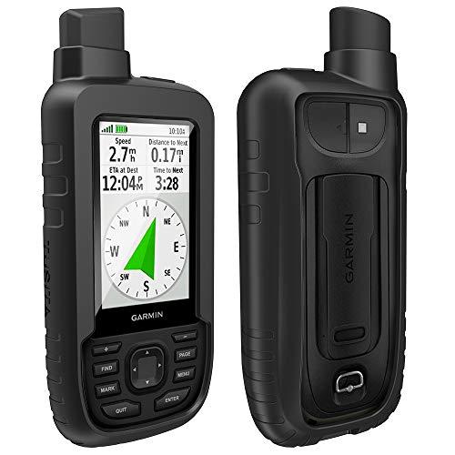 TUSITA Hülle für Garmin GPSMAP 66s 66st - Silikon Schutzhülle Skin - Handheld GPS Navigator Zubehör (Schwarz) Navigation Screen Protector