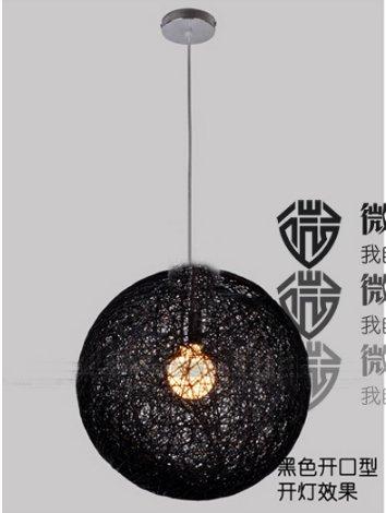 ZQ@QX Decorazioni di illuminazione domestica elegante tessuto lino palla e creativo minimalista ristorante, bar e sala da pranzo lampadario, nero cm