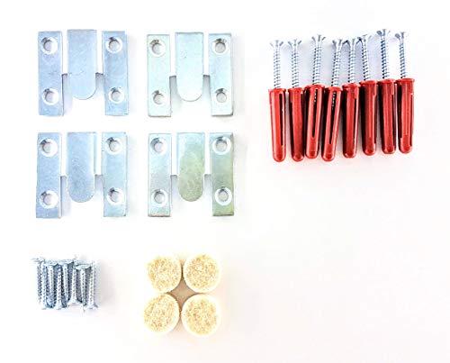 Kit de montaje de empotrado para espejo de alta resistencia, oculto, para colgar fotos o espejos, hasta 25 kg