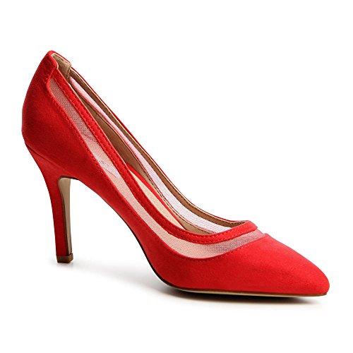 topschuhe24, Scarpe col tacco donna Rosso (rosso)
