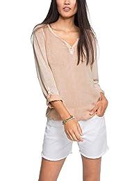 Esprit 026ee1k052, T-Shirt à Manches Longues Femme