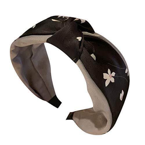 SomeTeam Damen Accessoires Spitze Punkt Stirnband Kreative breitrandige Stirnband Haarschmuck Elastisches Haarband Haarreife Kristall -