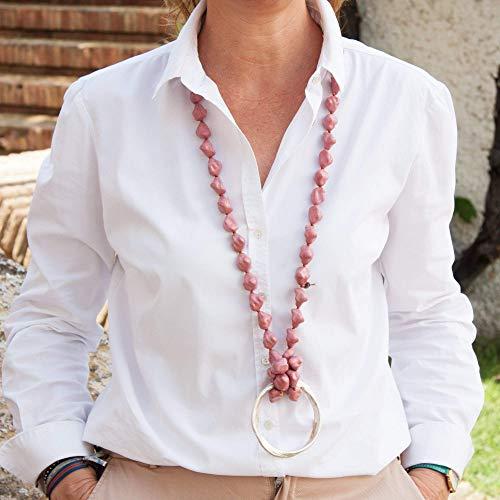 Kostüm Für Gelegenheiten Alle - Lange Halskette mit Semibarroca-Harzsteinen.