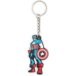 MARVEL COMICS - Llavero de goma del Capitán América