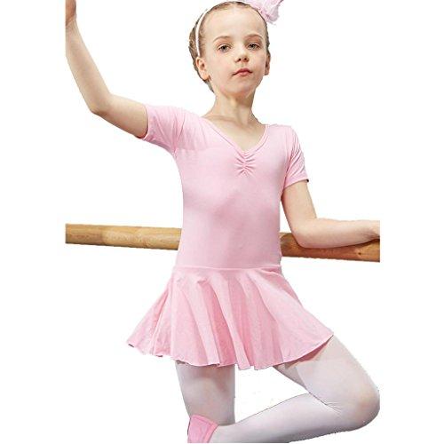 Wgwioo Ballett Gymnastik Praxis Match Kleidung Tanz mädchen Kleid Kindergarten Kinder Prinzessin Tulle Party Kinder bühnen Studenten Gruppe Team Leistung kostüme, 6#, 130cm (Kostüme Gruppen Für 6 Von)