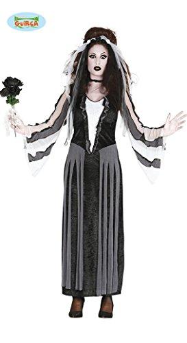 Gothic Braut Halloween Kostüm für Damen Geister Halloweenkostüm Geist Gersterkostüm Damenkostüm Zombie Gr. M/L, Größe:L