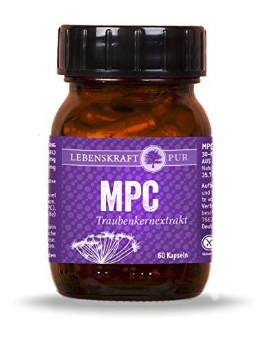 MPC Traubenkernextrakt - 30x Bioverfügbarer als OPC - 60 Kapseln - Monomere Proanthocyanidine - aus der Champagne in Frankreich