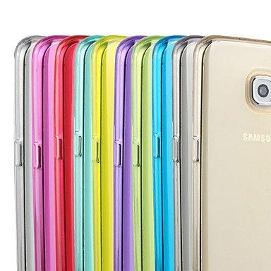 CASE FOR SAMSUNG Handy schützen, Durch Farbe TPU Fall für Samsung-Galaxie s7/s7 Rand für Samsung (Farbe : Gelb, Kompatible Modellen : Galaxy S7 Edge)