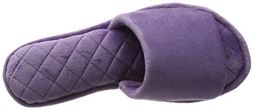 Dearfoams Slide, Chaussons Mules Femme Purple (Smokey Purple)