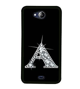 Alphabet A 2D Hard Polycarbonate Designer Back Case Cover for Micromax Canvas Play Q355